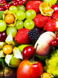Close up of Fresh Fruits - Fruit assortments - Fruits and Vegetables