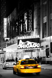 Advertising - Chicago the musical - Yellow Taxi Cabs - Times square - Manhattan - New York City - U