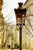 Parisian Street Lamps on a Staircase - Montmartre - Paris - France