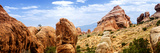 Devils Garden Dans - Panoramic Landscape - Arches National Park - Utah - United States