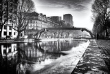 View of the Canal Saint-Martin - Winter -  Paris - France