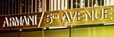 Advertising - Armani - Fifth Avenue - Manhattan - New York City - United States