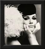 Nicole de la Marge in a Peter Shepherd Velvet Cap  1965