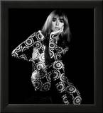 Circle Patterned Projection on Model with Hand on Face  1960s