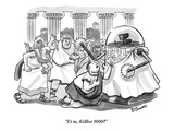 """Et tu  Killbot 9000"" - New Yorker Cartoon"