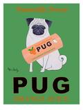 """Jus d'orange Pug """"Naturellement sucré"""" - affiche publicitaire Giclée par Ken Bailey"""