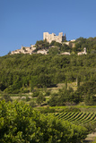 Ruins of Chateau Marquis De Sade Above Medieval Town of Lacoste  Provence  France