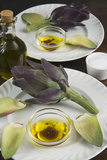 Artichoke with Dipping Sauce (Oil  Salt  Pepper and Vinegar)  Cuisine