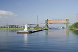 Burlington Canal at Hamilton  Lift Bridge on Lake Ontario  Toronto  Ontario  Canada