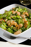 Salad with Shrimp  White Beans  Onions  Arugula  Cuisines