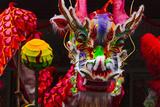 Dragon Dance Celebrating Chinese New Year in China Town  Manila  Philippines