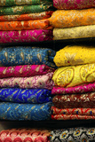 Colorful Sari Shop in Old Delhi Market  Delhi  India