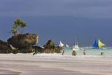 People Strolling on the Beach  Boracay Island  Aklan Province  Philippines
