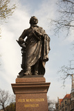 Statue of Felix Mendelssohn  St Thomas Church  Church of Bach  Leipzig  Germany
