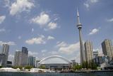 Lake Ontario City Skyline  Cn Tower  Rogers Centr  Toronto  Ontario  Canada