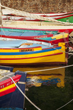 Colorful Sailboats in the Small Harbor of Collioure  Languedoc-Roussillon  France