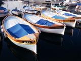 Wooden Fishing Boats  Riviera  Alpes-Maritimes  Villefranche-Sur-Mer  France