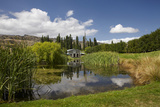 The Shed and Pond  Northburn Vineyard  Central Otago  South Island  New Zealand