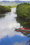 Canoe on the River  Bohol Island  Philippines