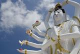 Giant Statue of Kwan Yin  Buddhist Goddess  Wat Plai Laem  Ko Samui  Thailand