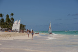 People and Sailboats  Bavaro Beach  Higuey  Punta Cana  Dominican Republic