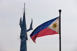 Tv Tower and National Flag  Manila  Philippines