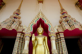 Buddhist Temple and Golden Buddha Statue  Wat Plai Laem  Ko Samui  Thailand