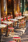 Cafe Tables and Chairs  Place Du Tertre  Montmartre  Paris  France