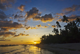 Sunset View of the Beach  Bohol Island  Philippines