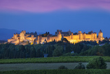 La Cite Carcassonne  Fortified Medieval Town  Languedoc-Roussillon  France