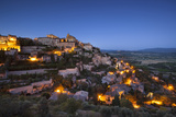 Twilight over Medieval Village of Gordes  Provence  France