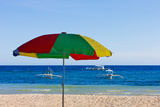 Umbrella on the Beach  Bohol Island  Philippines