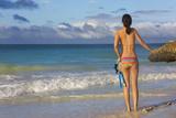 Woman with Snorkeling Equipment  Travel  Boracay Island  Aklan  Philippines