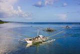 Fishing Boat in the Water  Bohol Island  Philippines