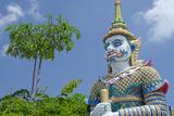 Buddhist Temple and Mythological Creature  Wat Plai Laem  Ko Samui  Thailand