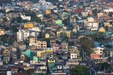 Aerial View of Colorful Houses  Manila  Philippines