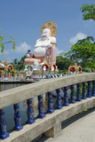 Temple and Giant Statue of Big Happy Buddha  Wat Plai Laem  Ko Samui  Thailand