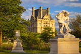 Statue in Jardin Des Tuileries with Musee Du Louvre Beyond  Paris  France
