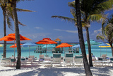 Umbrellas and Shade at Castaway Cay  Bahamas  Caribbean