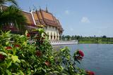 Buddhist Temple in Scenic Lake  Wat Plai Laem  Ko Samui  Thailand