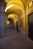 Evening and Lighted Arched Hallway  Lucca  Italy