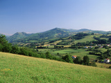 View of Rural Landscape  Pyrenees-Atlantiques  Pays-Basque  France