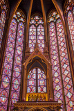 Altar  Stained Glass Windows  Upper Chapel  Sainte Chapelle Church  Paris  France