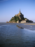 View of Mont Saint-Michel  Normandy  France