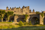 Old Bridge (14th Cent)  Medieval Town  Carcassonne  Languedoc-Roussillon  France