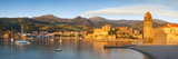 Dawn over Town of Collioure  Pyrenees-Orientales  Languedoc-Roussillon  France