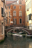 Small Bridge over a Side Canal in Venice  Italy
