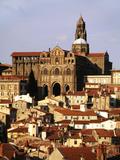 Cathedral Notre Dame  Haute Loire  Le Puy  France