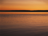 View of Yellowstone Lake at Sunset  Wyoming  USA