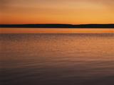 View of Yellowstone Lake at Sunset  Wyoming  USA